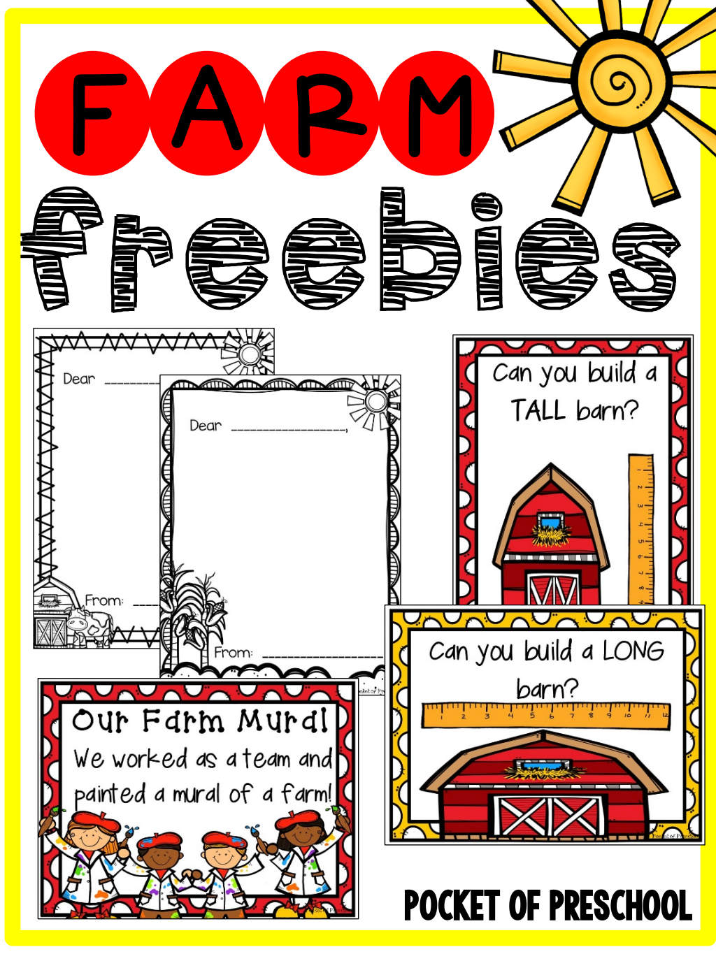 Farm Friendly Letters Posters Charts