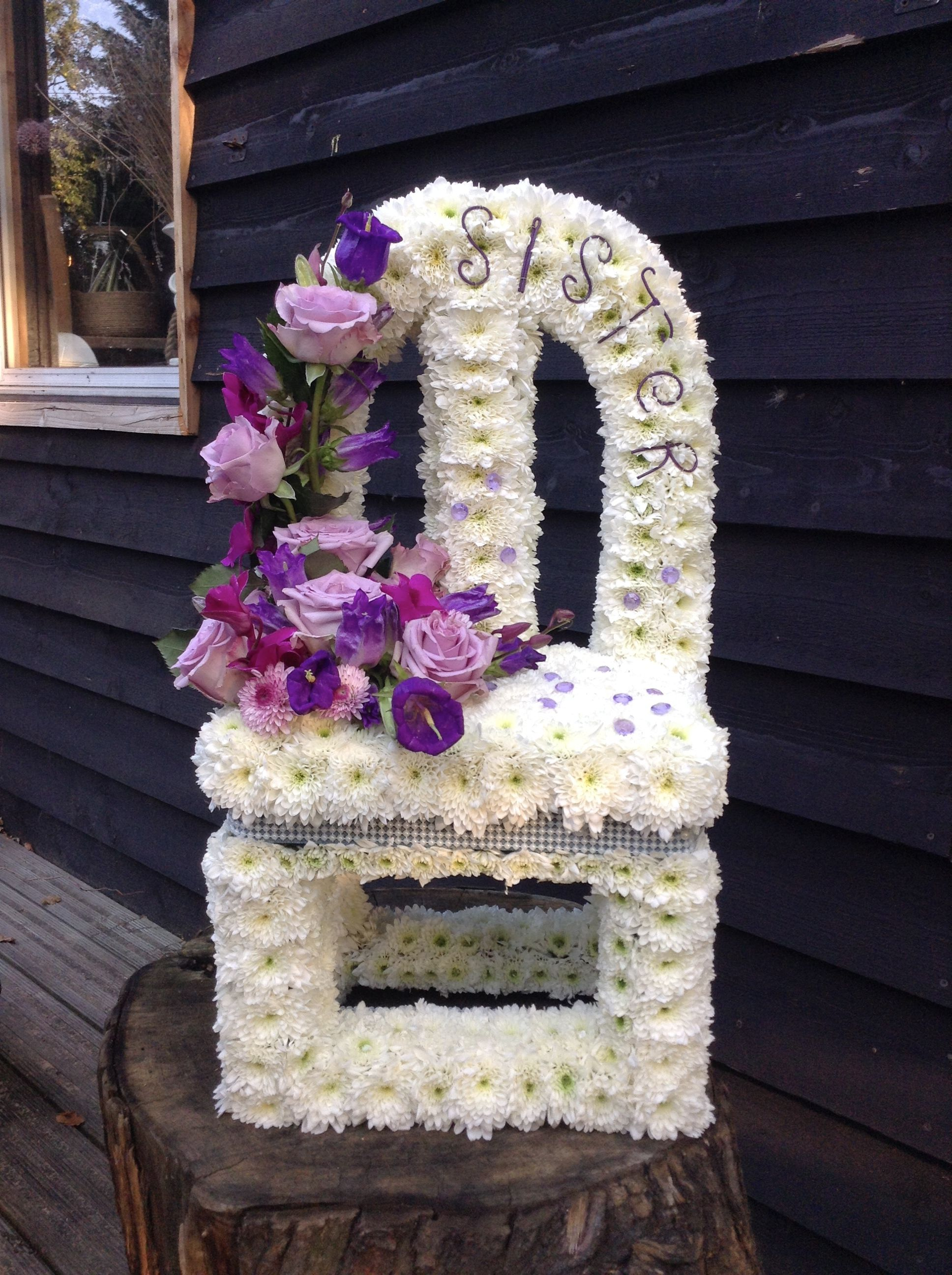 Vacant Chair Funeral Flower Tribute Flowers For Funerals Bespoke