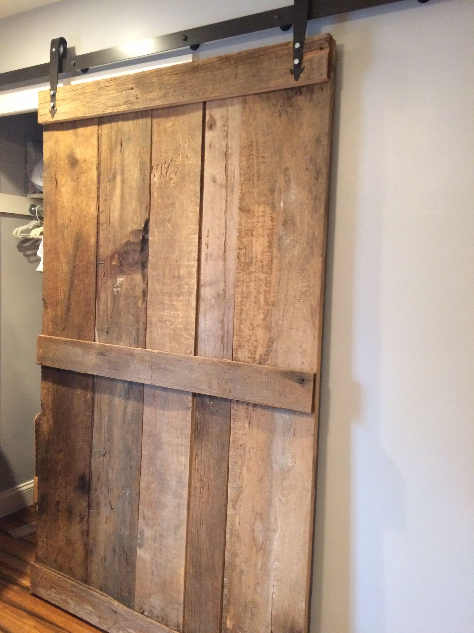 Vintage Style Nurseryrn Door Closet House Pinterest Barn