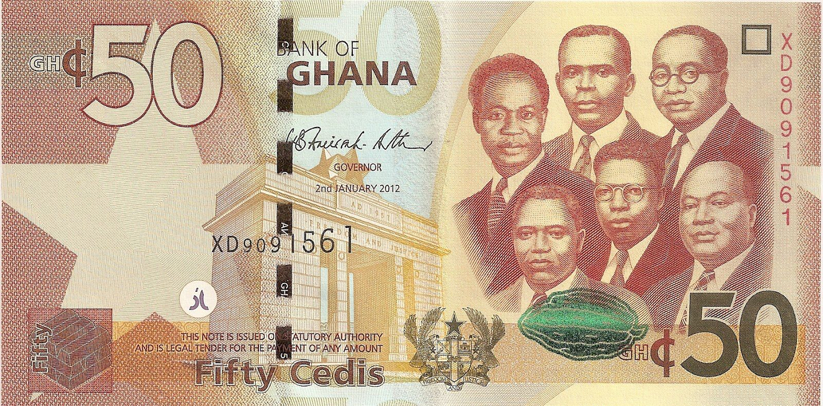 the big six of ghana were featured on ghana s currency sometimes