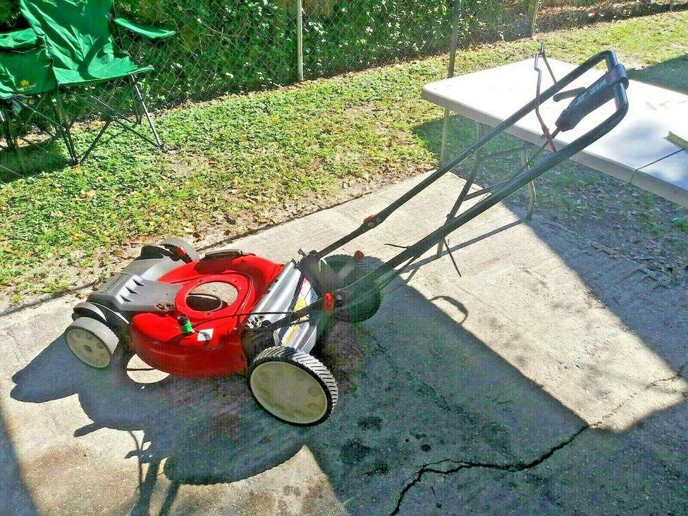 Troy Bilt Tb230 21 3 In 1 Front Wheel Drive Self Propelled Lawn Mower Deck Troybilt Lawn Mower Mower Self Propelled Mower