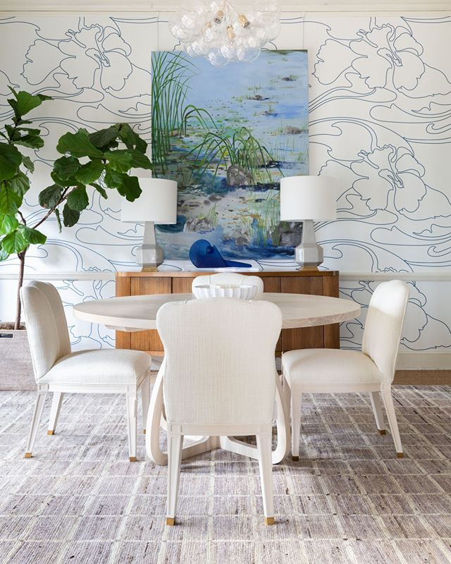 Blue and White Dining Room at Blue Print Original art by