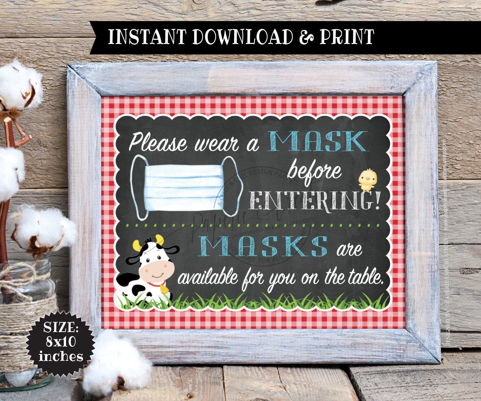 Mud Bath Pack of 4 Printable Signs Farm Animals Party Grazing Station Watering Hole Sign Printable Instant Download Cards and Gifts