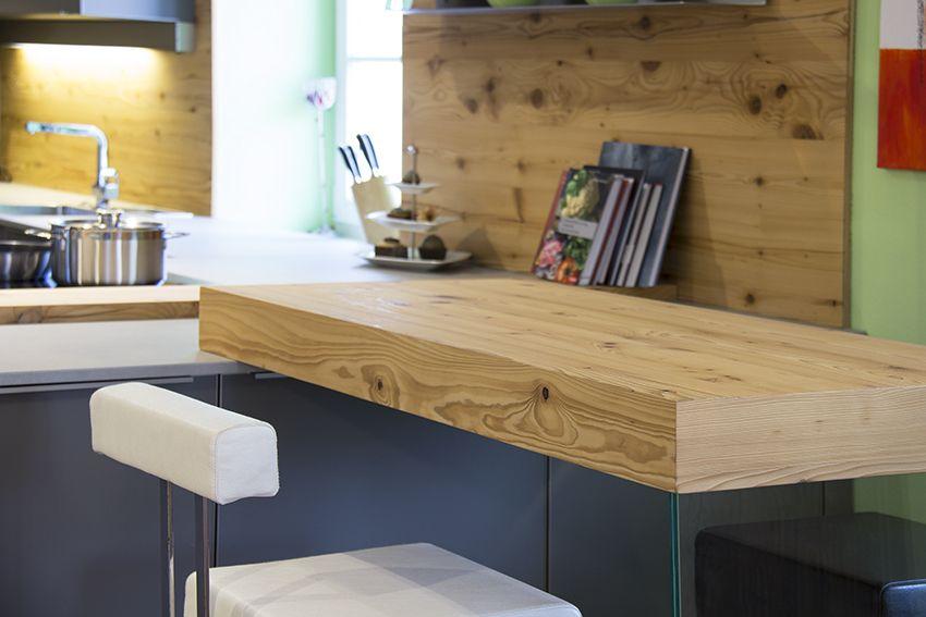Barelement aus Fichte Altholz, Tischlerküche, geplant vom Atelier - küchen aus altholz