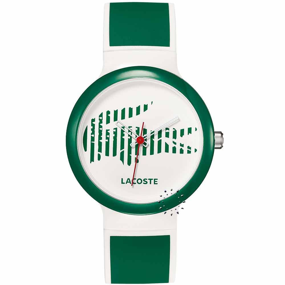 LACOSTE GOA Green and White Rubber Strap  69€  Αγοράστε το εδώ: http://www.oroloi.gr/product_info.php?products_id=20659
