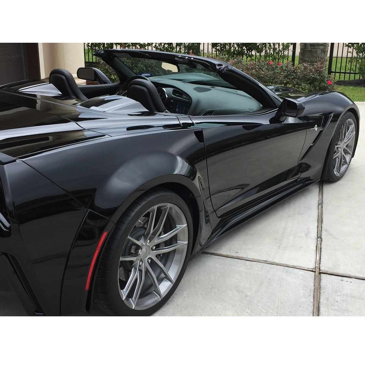 Corvette C7 Z06 Grand Sport Side Skirts Rocker Panels Abs Plastic Carbon Fiber Hydrographics Corvette C7 Carbon Fiber Corvette