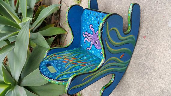 small child's rocker by ArtsWithJobs on Etsy