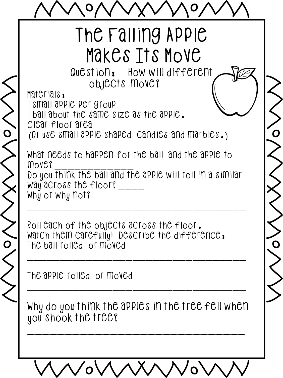 Falling For Force And Motion Apple Style