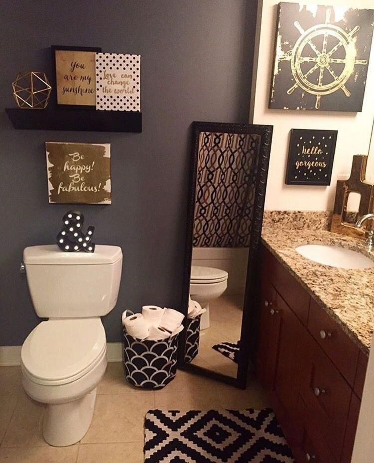 30 Fabulous Small Bathroom Ideas Restroom Decor Bathroom Decor Apartment Apartment Decor