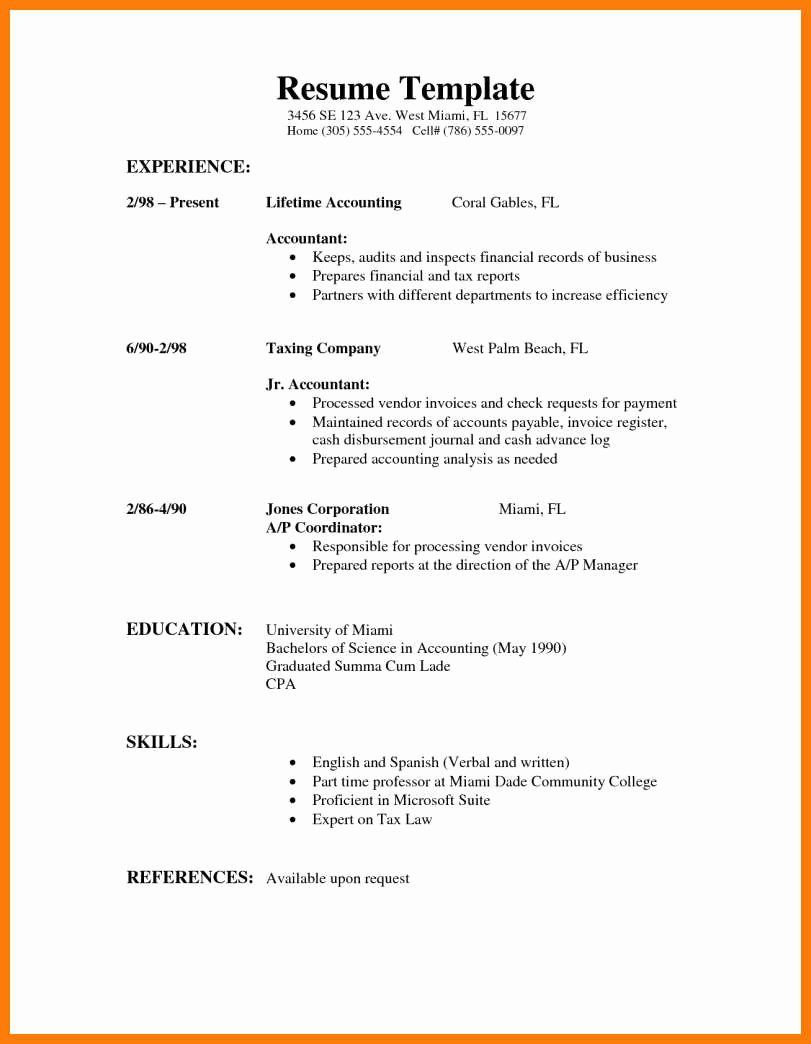 First Job Resume Template Awesome 10 Part Time Job Resume Example High School Resume Template High School Jobs High School Resume