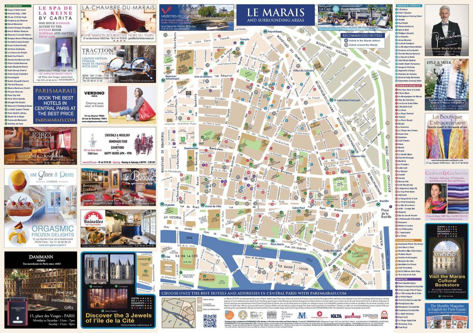 Le Marais Map Free Of Paris Parismarais