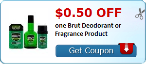 New Coupon!  $0.50 off one Brut Deodorant or Fragrance Product - http://www.stacyssavings.com/new-coupon-0-50-off-one-brut-deodorant-or-fragrance-product/