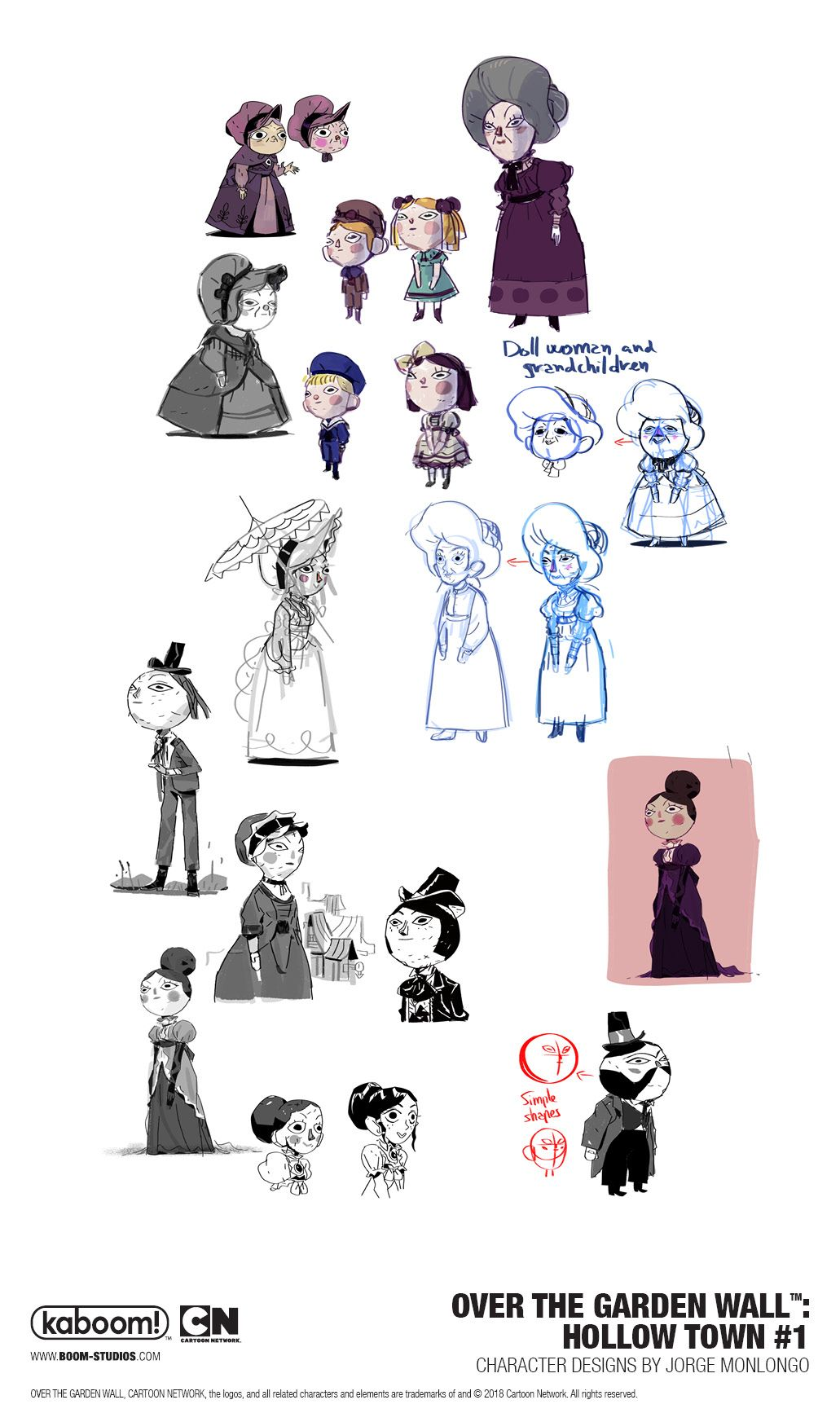 Over the Garden Wall Hollow Town 1 Concept Art by