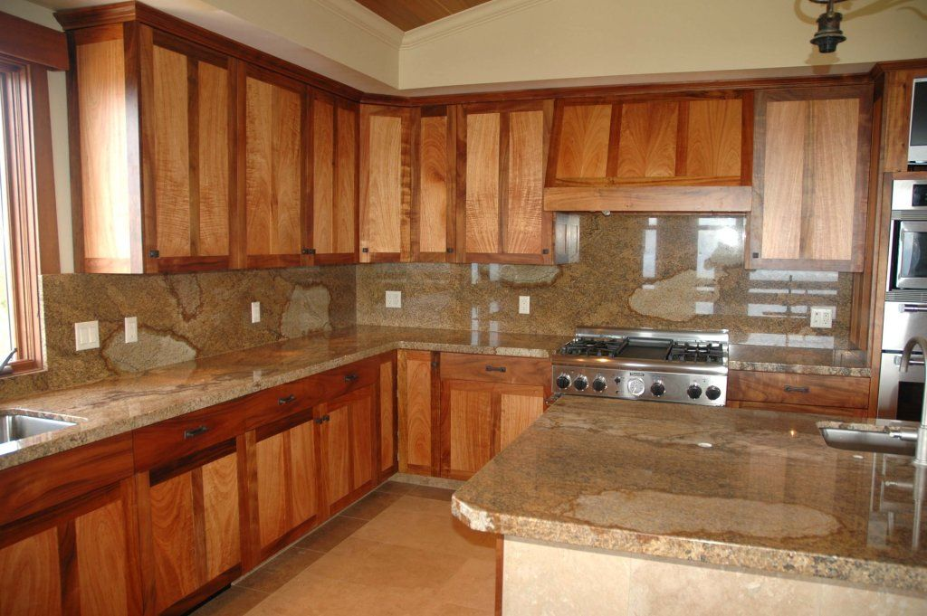 Simple Kitchen Ideas Solid Koa Kitchen Cabinets In New