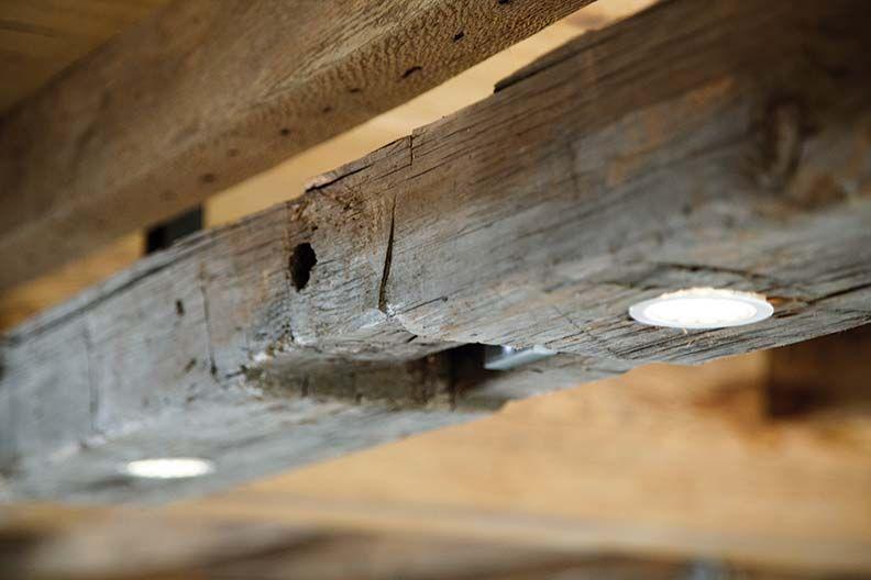 Modern farmhouse lighting with rustic wood beam modern for Diy wood beam light fixture