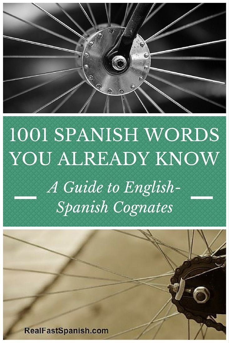 Spanish Cognates 1001 Spanish Words You Already Know Spanish