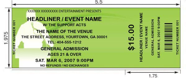event ticket template,free event ticket template Ticket Template - printable ticket template free