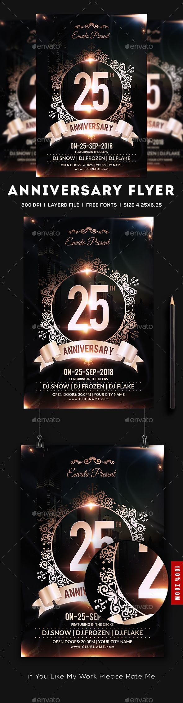 Anniversary Flyer | Pinterest | Flyer template, Anniversaries and ...