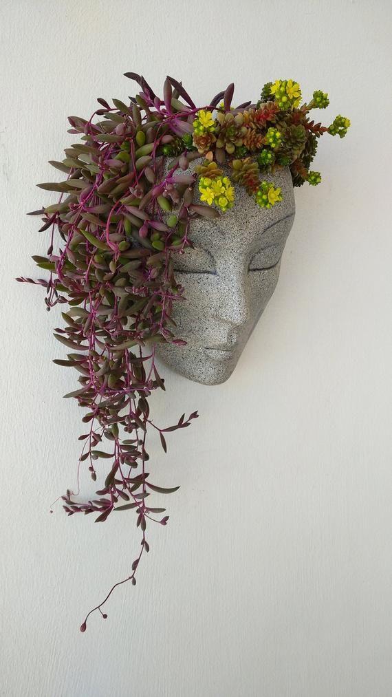 Planter, pots for plants, wall planter, wall art,