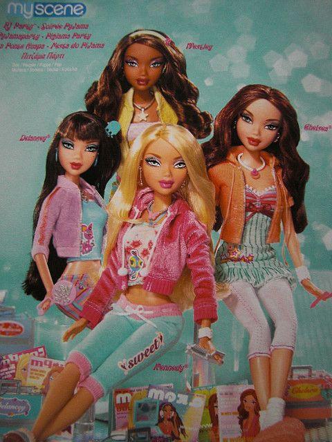 Barbie My Scene Doll Mattel 2003 Bratz Style Doll NEW Damaged Box