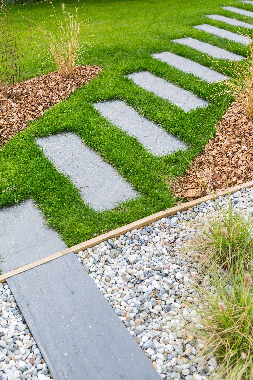 Aménagement d'un jardin pour un paysage et une ambiance zen avec ce chemin de pas japonais - Architecte Delettre