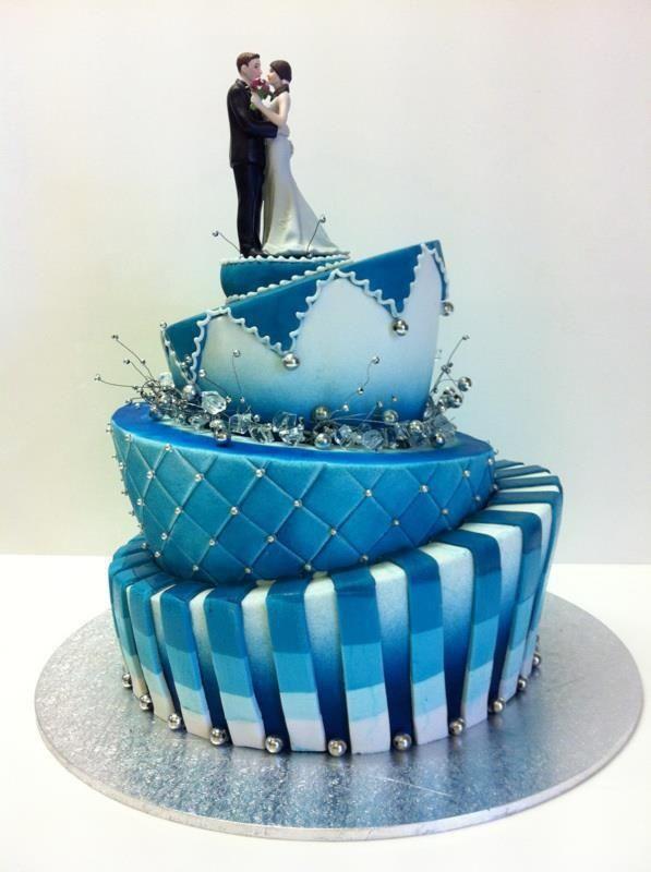 Elegant Topsy Turvy Wedding Cakes Its A Airbrushed Cake Ideas
