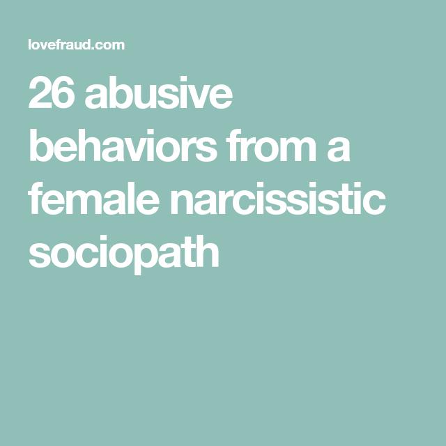 Behaviors of a sociopath