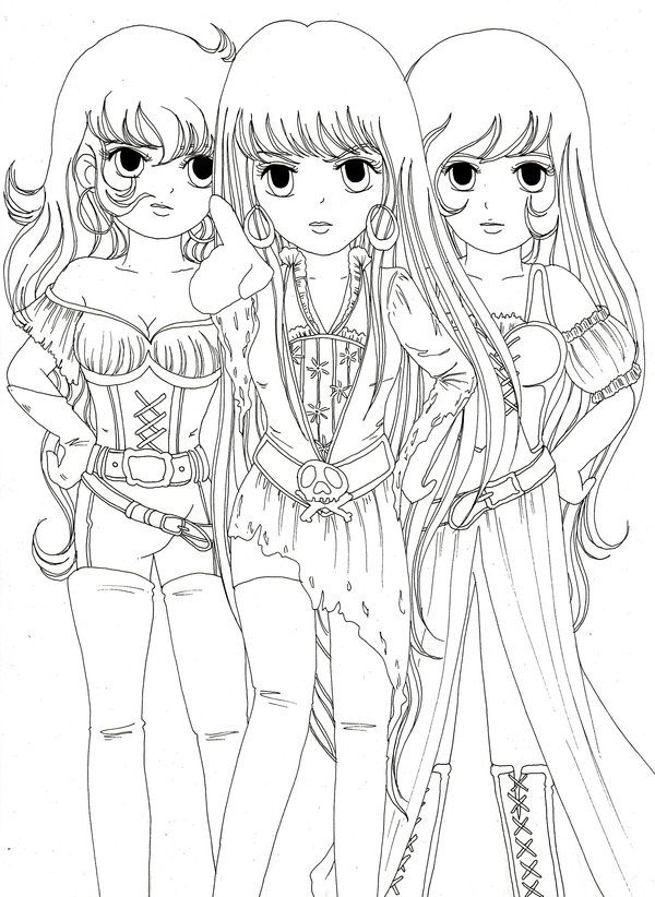 Image Detail For Cute Anime Coloring Pages To Print With Images