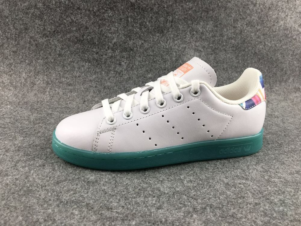 Adidas Stan Smith White Multicolor Hot Fasion Skateboarding