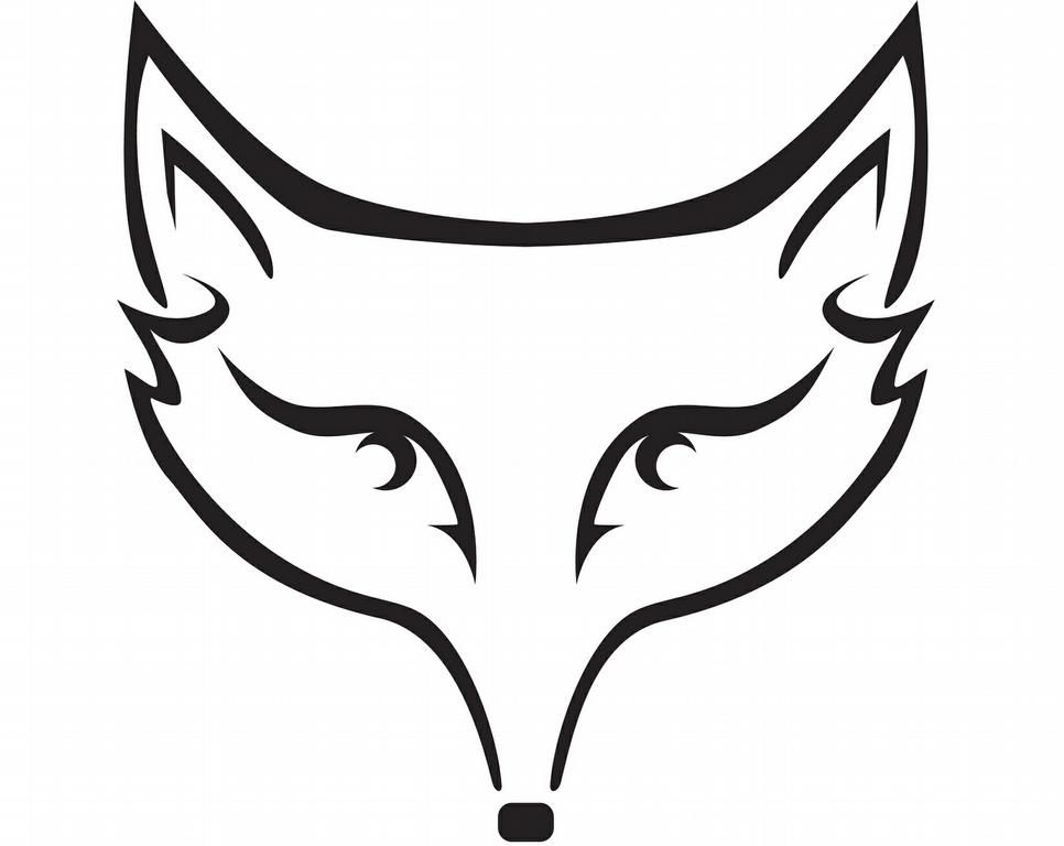 43+ Fox clipart black and white face info