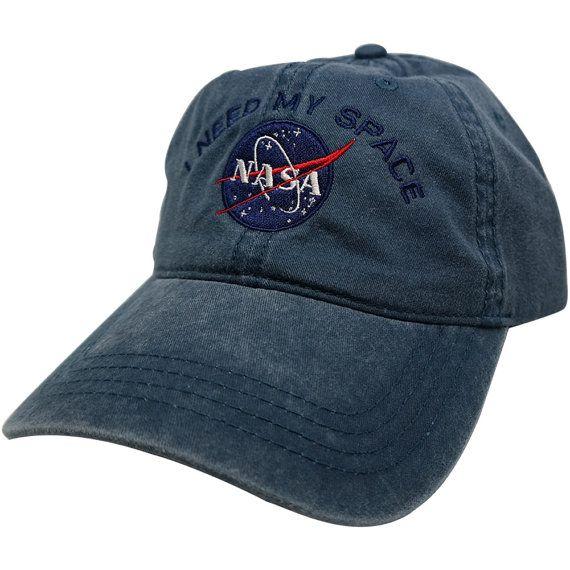 9fa1247c651 Nasa I NEED MY SPACE Meatball Insignia Embroidered Cotton Cap - 8 ...
