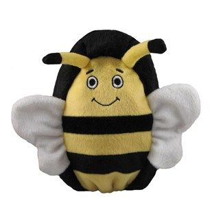 Kyjen Dog Toy Hard Boiled Softy Bumble Bee Dog Toys Durable