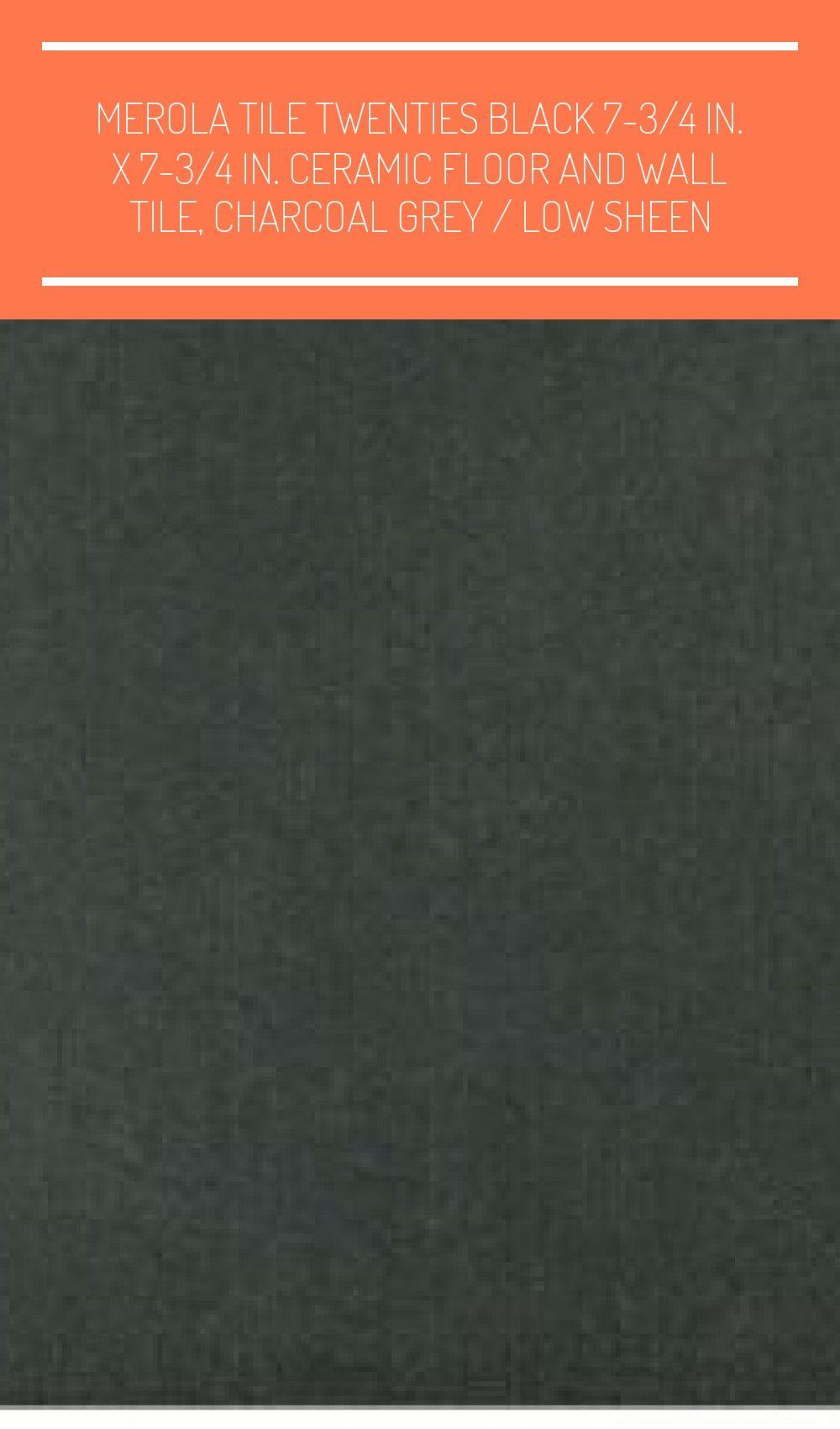 Photo of Merola Tile Twenties Black 7-3/4 in. x 7-3/4 in. Ceramic Floor an