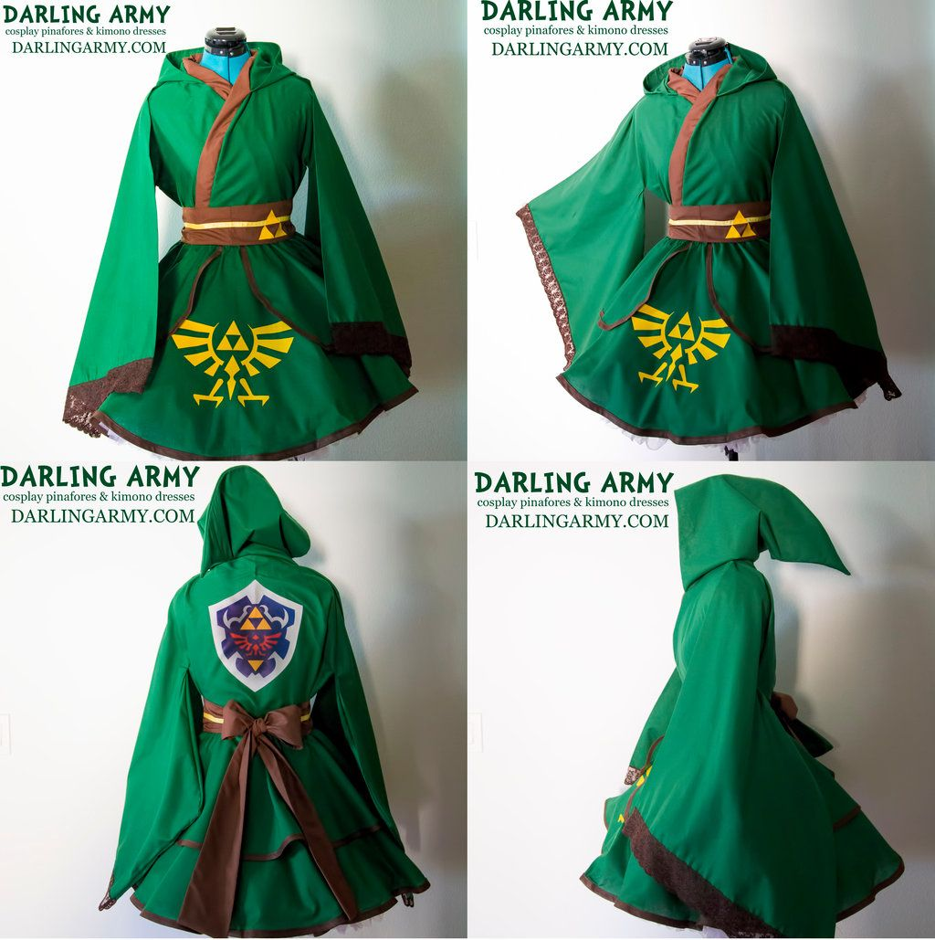Link legend of zelda hooded cosplay kimono dress by darlingarmy link legend of zelda hooded cosplay kimono dress by darlingarmyiantart on baditri Images