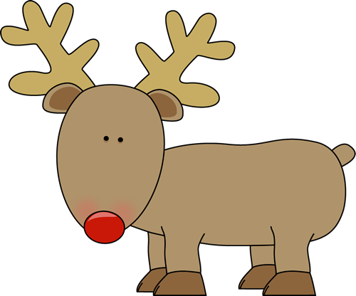 Reindeer Clip Art Cute Reindeer With A Red Nose | Christmas ...