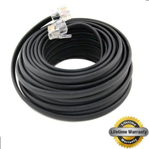 Boostwaves 100 Foot Black Telephone Extension Cord Cable Line Wire Rj 11 Lifetime Warranty Extension Cord Extension Cable Telephone Accessories