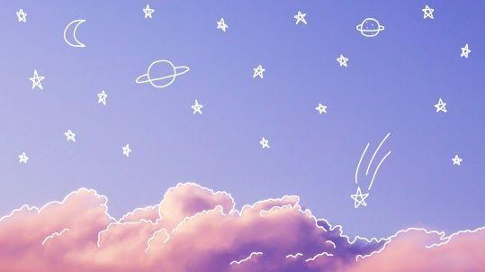 Pastel Aesthetic Galaxy Desktop Wallpaper