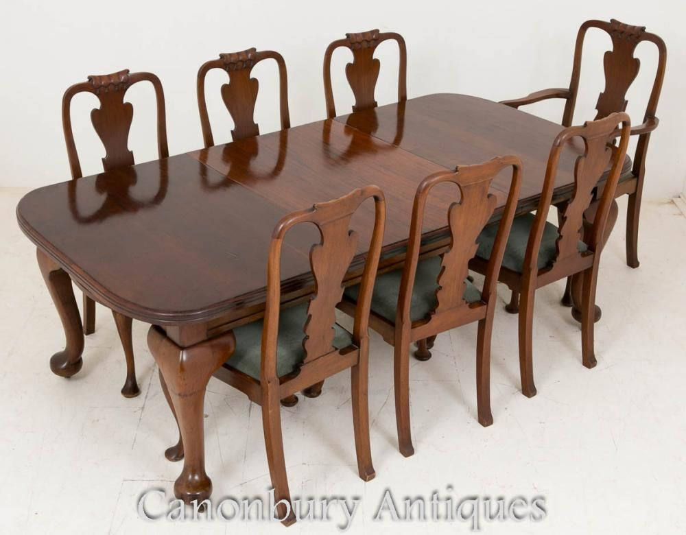 Victorian Dining Set Mahogany Tables and Chairs 1900 - Victorian Dining Set Mahogany Tables And Chairs 1900 Victorian