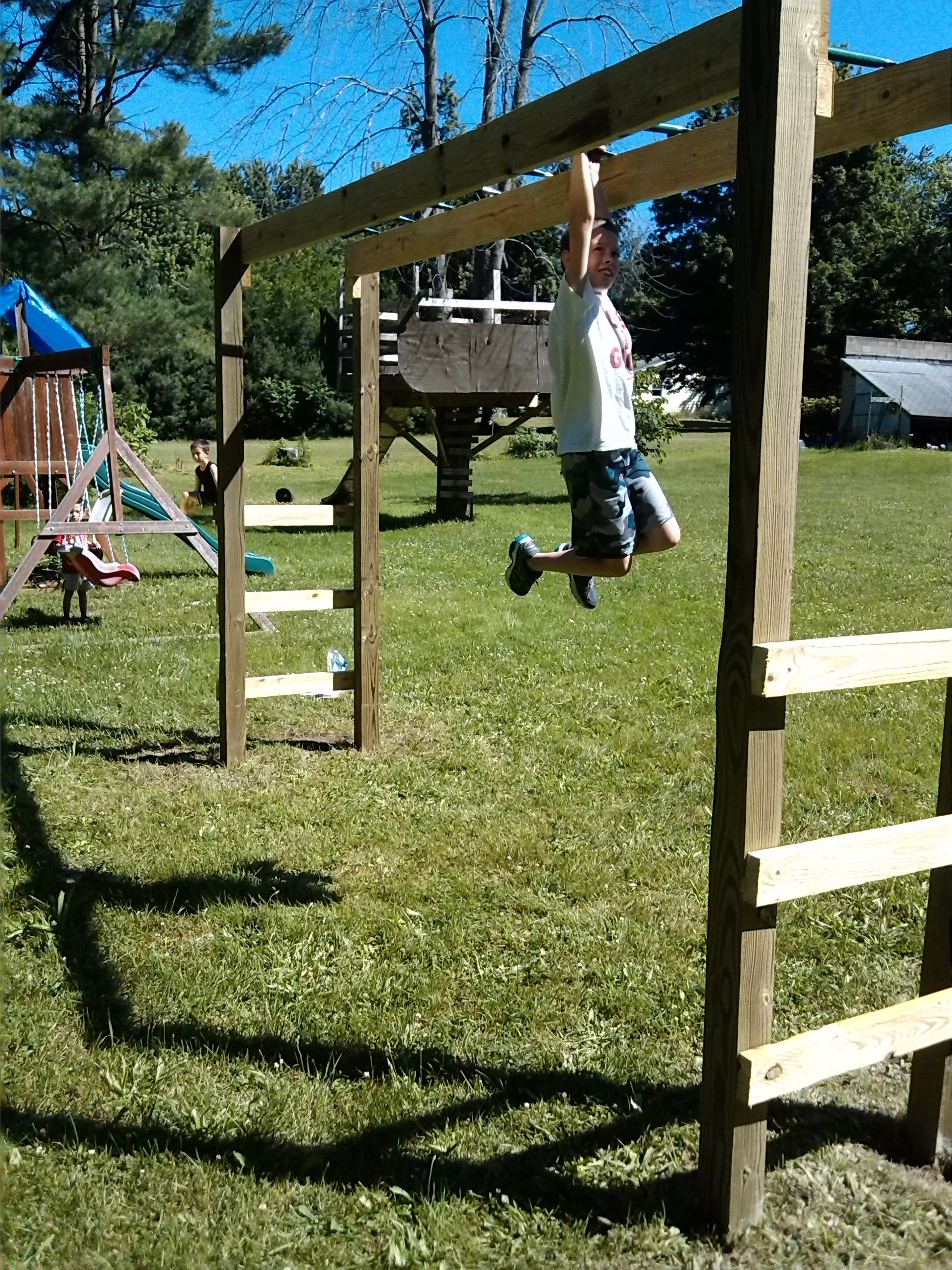 you can build monkey bars in your backyard in a weekend for around