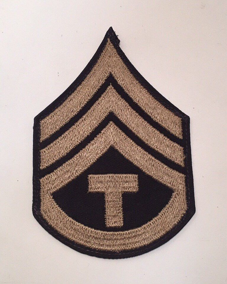 Vintage Black & Grey Army/Navy Shield with a letter T