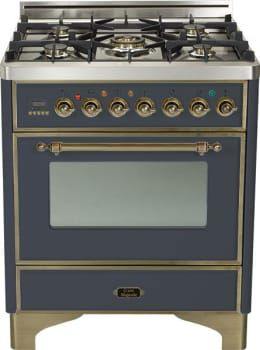 Ilve Um76dvggmy 30 Inch Traditional Style Gas Range With 5