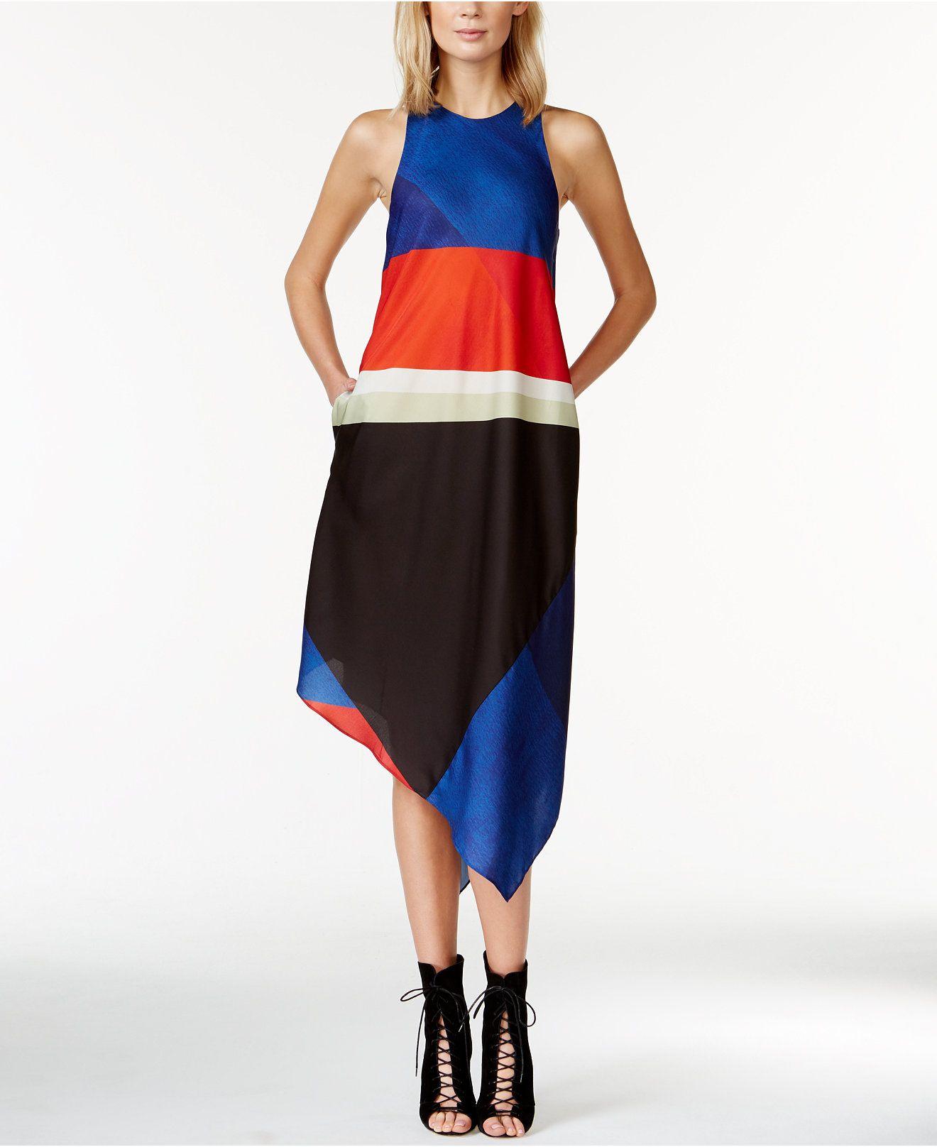 c00f19e09b9  119 RACHEL Rachel Roy Colorblocked Handkerchief Dress - Dresses - Women -  Macy s