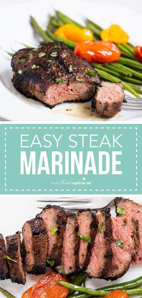 Easy Steak Marinade   Recipe   Steak marinade recipes. Seared salmon recipes. Food recipes