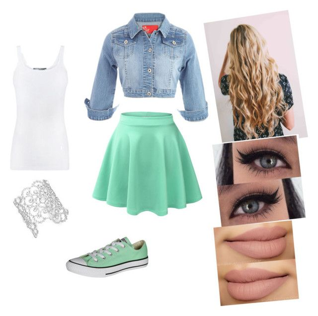 """""""#greenishteal"""" by queen-sanja on Polyvore featuring LE3NO, Vince, Kate Spade and Converse"""