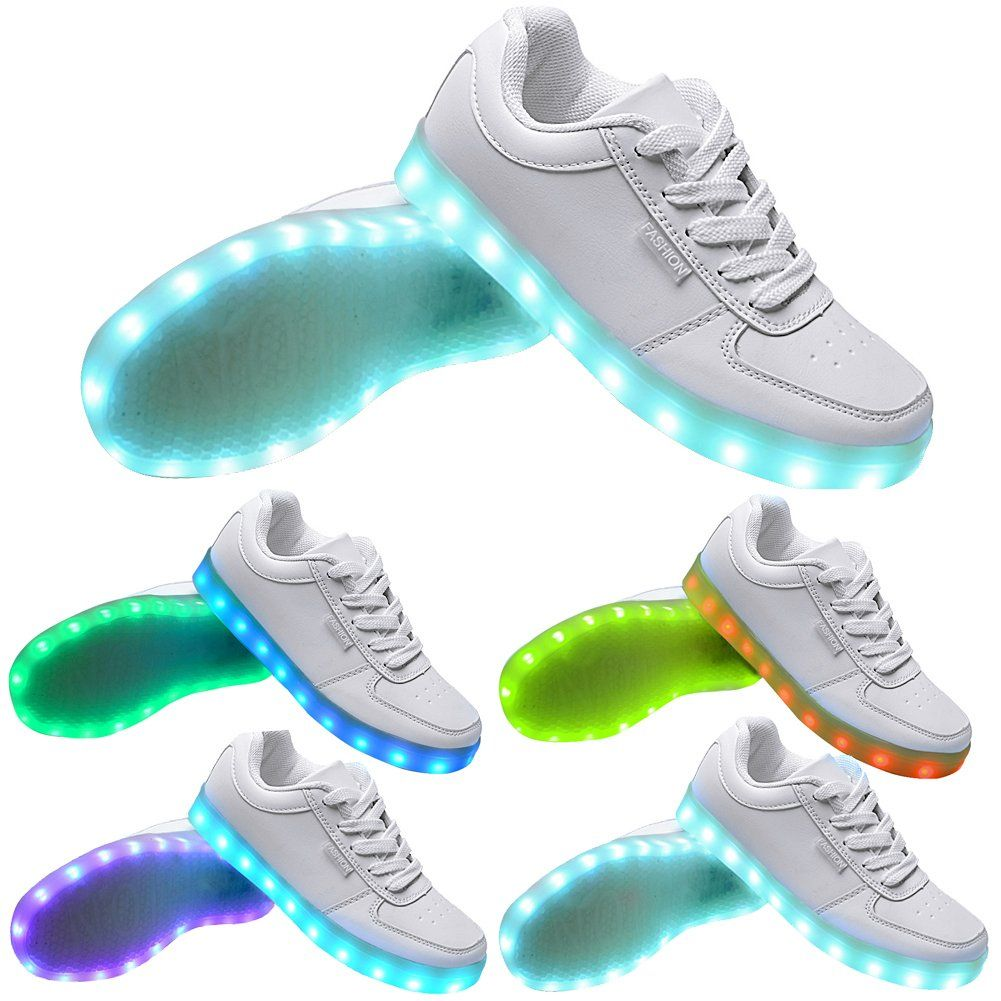Womens Happyskymall 2015 2016 Year New Style Fashion 7 Colors USB Charging Led Luminous Shoes Led Shoes Sneakers for Adult Unisex Women Men Best Deals Size 40