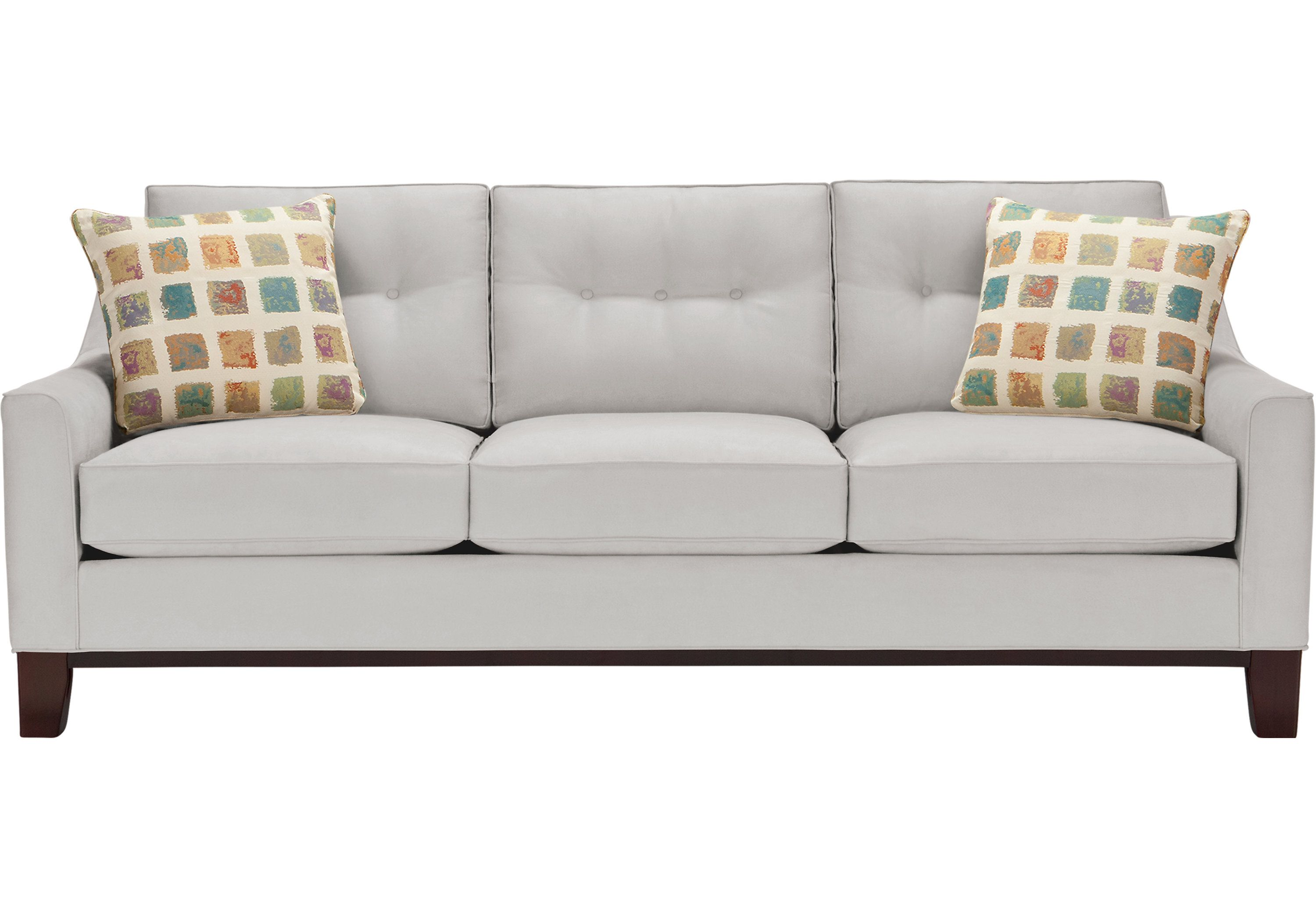 Picture Of Cindy Crawford Home Montclair Platinum Sofa From Sofas Furniture