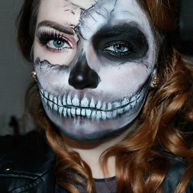 These Halloween Makeup Ideas Are So Scary They Would Make You Shiver - face makeup ideas for halloween