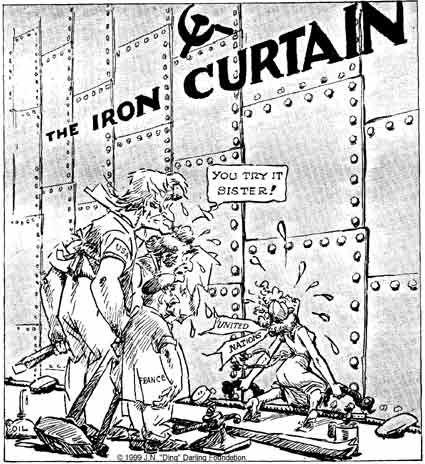 Cold War Cartoon On Iron Curtain Cold War Propaganda Cold War