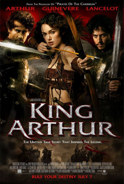 """King Arthur - a 2004 historical action drama, based on a more realistic portrayal of """"Arthur"""" than has ever been presented onscreen. The film will focus on the history and politics of the period during which Arthur ruled - when the Roman empire collapsed and skirmishes over power broke out in outlying countries.  Starring Clive Owen  Kiera Knightley."""