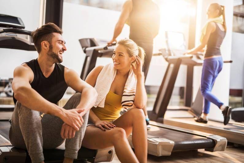 Jungs flirten fitnessstudio
